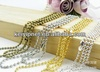 2.4mm stainless steel ball chain with connectors jewelry chains metal ball cahin necklace