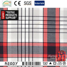 Shepherd Check Compaction Cotton Yarn Dyed Fabric China Supplier For Garments