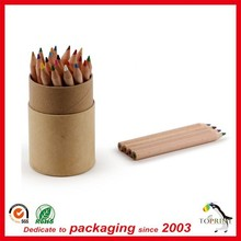 raw kraft fancy paper pen container paper tube for pencil packaging round shaped eco friendly direct sale