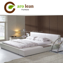 modern furniture white leather king size bed C380
