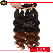 Low price wholesale malaysian colored two tone hair weave