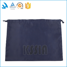 Hot selling blue leisure middle linen drawstring bag for shoes