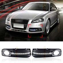 Auto 6 LED Car Daytime Running Lights DRL For Audi A4 B8 Avant Sedan 2009 2010 2011 2012