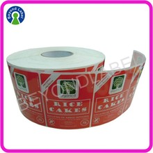 OEM Printing Adhesive Roll Label Stickers,Food Lable Sticker Printing.
