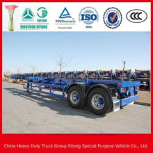 skeleton semi trailer container chassis