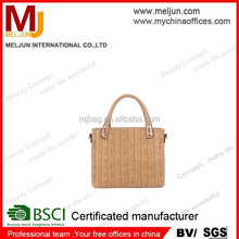 Alibaba China fashion Office lady genuine leather hand bag