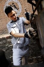 high quality gray gardener workwear
