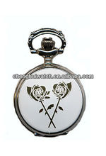 lady gift alloy case quartz movt Open Face Pocket Watch
