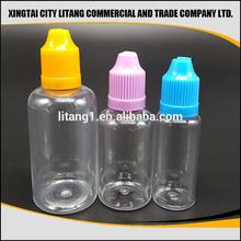 10ML 30ML PET Clear Round Plastic 1oz PET Dropper Bottles For E Liquid