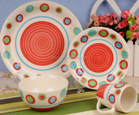 hp ceramic hot sell cirlcle made in poland china dinnerware
