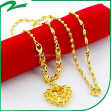 Luxury trendy newest item necklace gold 916