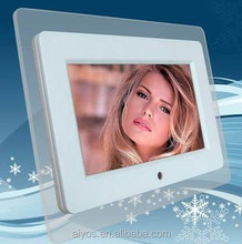 7 Inch Digital Photo Frame with Internal Battery Acrylic Frame TFT- LCD Screen 800*480 Pixels