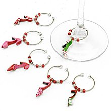 2013 new design sexy girl party accessories promotional wine charms