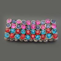 sale price colorful crystal beads wide hawaiian bangle bracelet