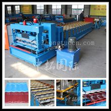 red glazed steel roof tile roll forming machine, rolling machine machine from china for glazed tile