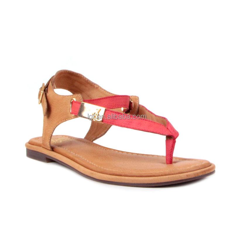 Trendy Leather Strap Flat Sandals For Women Fancy Slippers ...
