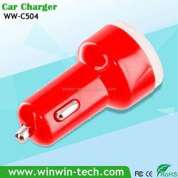 New design transparent cover dual usb car charger 5v