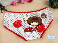 3566-5 Wholesale CHINA YIWU women cheap free sample sexy cotton cartoon panty underwear for girl ladies low-waist short knickers