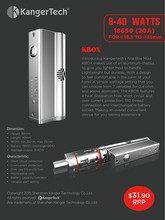 100% Authentic Kanger Kbox 40w stock supply, 40W box mod specially for Suntank series with original Kanger Kbox china supplier