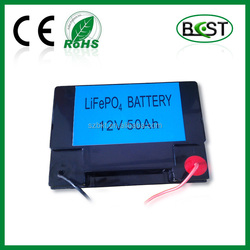 Lithium battery 12V 50Ah for power supply