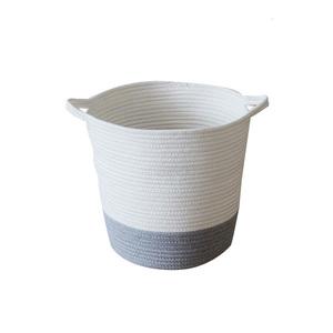 2016 stile piccolo cotone corda di carta cestino di paglia