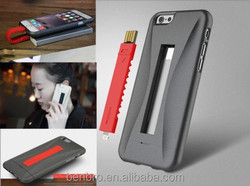 ROCK Hybird PC Silicon Case With USB Charging Cable For iPhone 6 4.7""