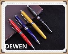 Logo printed pattern matal pen sets, superior quality metal ball pen