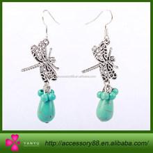 Retro Dragonfly Turquoise Earrings bali jewelry earring wholesale