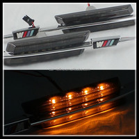 Car accessories LED side marker lamps LED turn signal lights for BMW E39 (96-03) Amber Smoke with M power logo led side marker