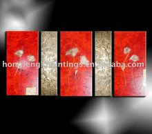 Red and Gold Flower Groul Wall Decor Oil Painting GFP (41)