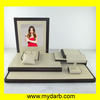 MDF Wooden Wrapped Beige Leatherette Jewellery Display