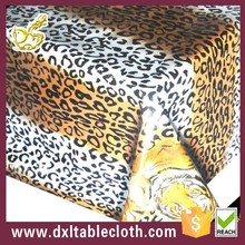 wholesale tiger fur fancy polyester tablecloth used square banquet tablecloth