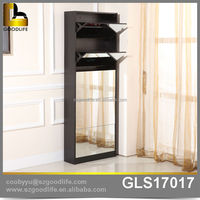 Goodlife No.1 export shoe rack designs wood with mirror