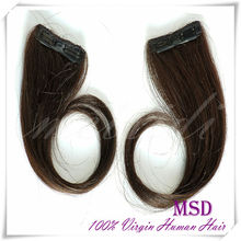 Wholesale top quality indian/peruvian/brazilian clip in hair extensions