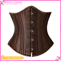 Free Shipping Brown Corset With Buckles Waist Training Corsets