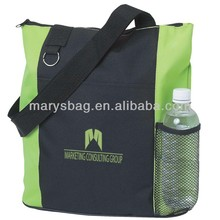 polyester tote with slip ring for keys and carabiners