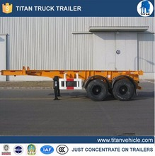 two-axle 20 feet container chassis for sale