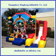 Mickey bouncers inflatables, china inflatables, inflatable combo/ inflatable bouncer with slide