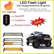 DDL new products 180w off road flash color change white/amber led bar light with remote control
