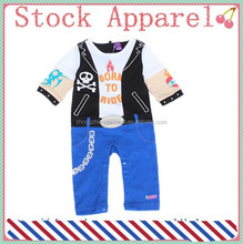 babies wear 100% cotton long sleeve brand name baby jumpsuit wholesale