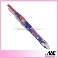 Flower Printed Promotional Eyebrow Tweezers