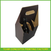 Hot selling kraft paper 3 pack bottle carriers