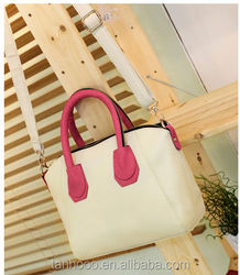 Custom Luxury Ostrich Leather Tote Bags Women Famous Brand Hand Bag Purple 2015