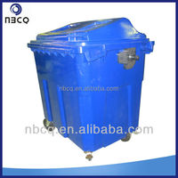 660L plastic large garbage bins in hotels, outdoor and hospitals