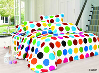 dots style bedding set 70gsm polyester mircofiber duvet cover bed sheet pillowcases