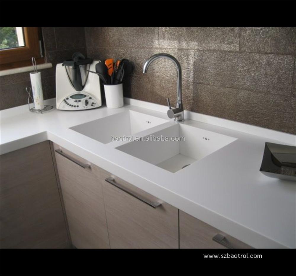 570 mm acrylique r sine vier profond gouttoir surface solide vier de cuisine evier de cuisine. Black Bedroom Furniture Sets. Home Design Ideas