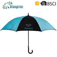Promotional Straps Fashion Inside Full Printed Double Canopy Golf Umbrella