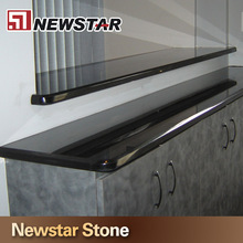 Polishing Surface Black Stone Bars Kitchen Granite Counter Tops Design