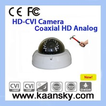 vandal- proof HD-CVI CCTV dome camera housing with 2 megapixel