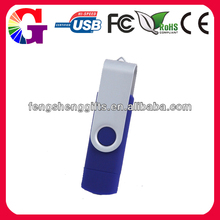 ew otg usb 2.0 4gb smartphone usb disk, double port usb flash drive
